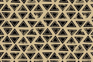 Triangles ethnic seamless pattern