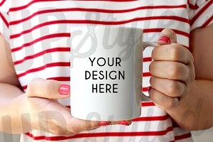 F203 Coffee Mug Stock Photo