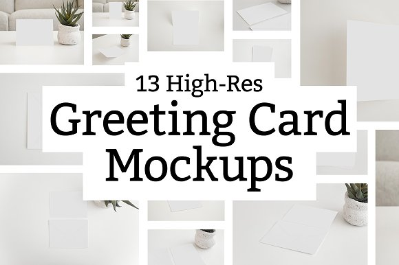 Download 13 Greeting Card Mockups