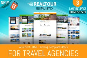 Travel Landing Page HTML5 Template