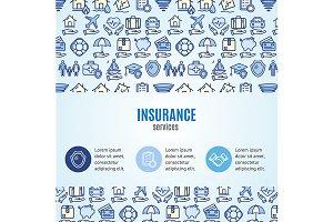 Insurance Infographics Banner.