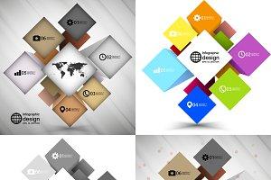 Cube box infographics