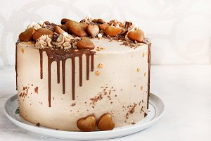 Chocolate Cake with Fudge Drizzled I
