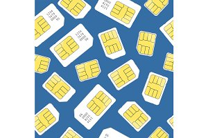 Sim Card Seamless Pattern