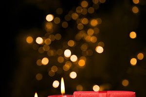 Magic Christmas with bokeh lights