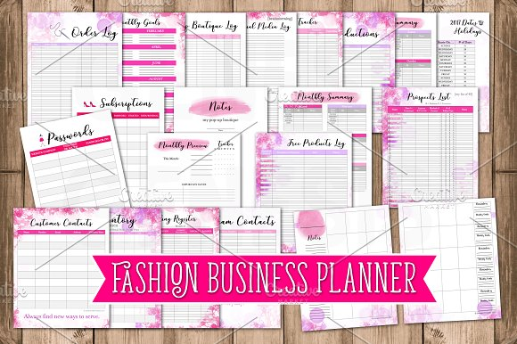 Business Planner - Fashion Business