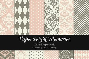 Patterned Paper - Antique Wallpaper