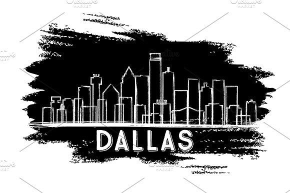 Dallas Texas USA City Skyline