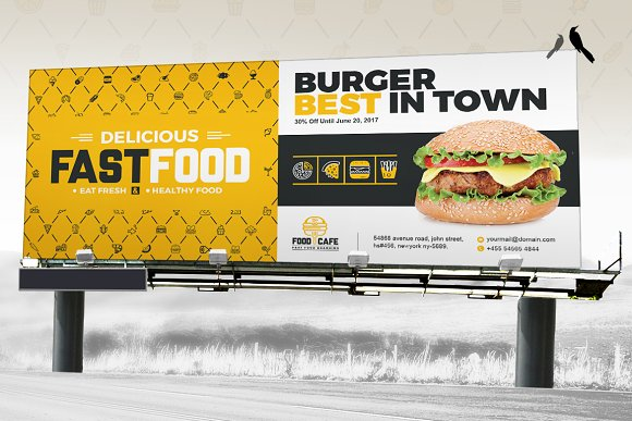 Digital Signage for Fast Food Agency in Stationery Templates - product preview 4