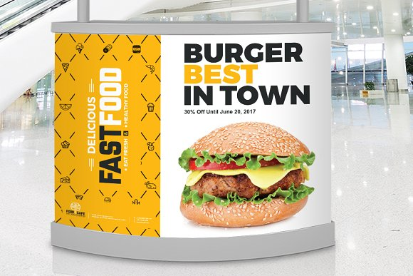 Digital Signage for Fast Food Agency in Stationery Templates - product preview 7
