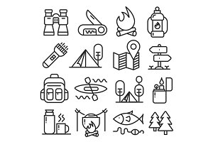 lines icons pack collection
