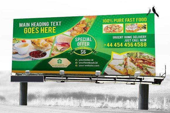 Fast Food Billboard Template