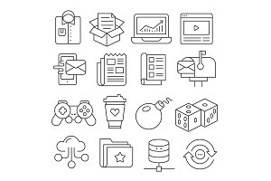 Weblines icons pack collection
