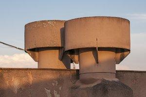 round chimneys
