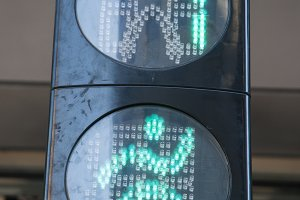 pedestrians traffic light