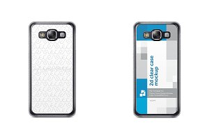 Galaxy E5 2d Clear Mobile Case
