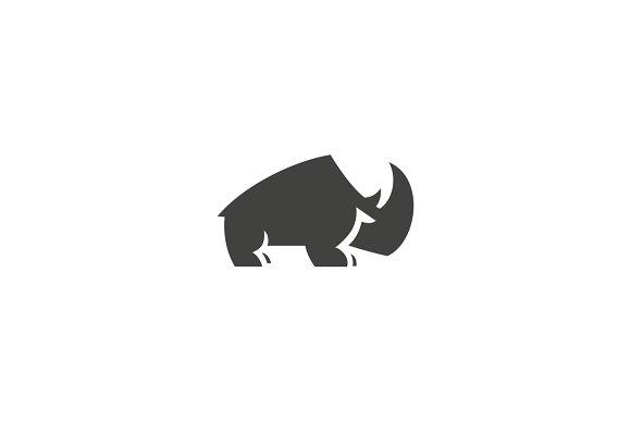 rhino logo templates creative market