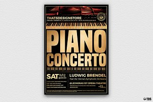 Piano Concerto Flyer Template V2