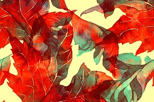 fantastic leaves seamless | JPEG