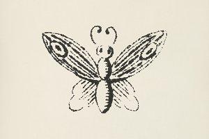 Moth icon (PSD)