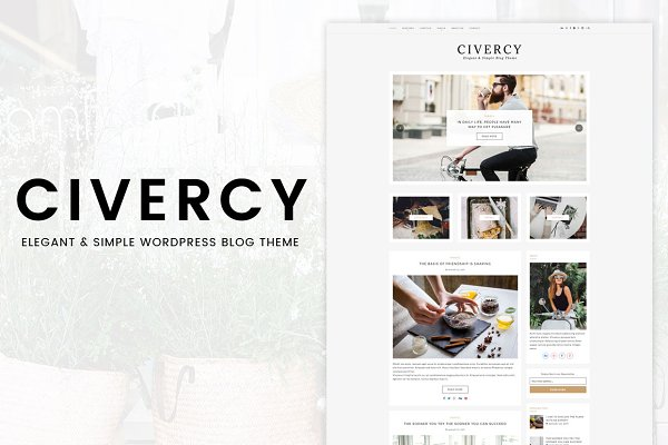 WordPress Themes - Civercy - Elegant WordPress Theme
