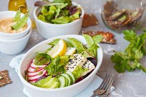 Vegan healthy lunch