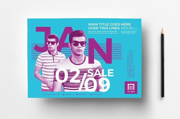 january sale poster templates flyer templates creative market