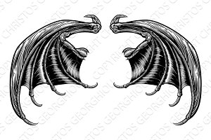Bat or Dragon Wings