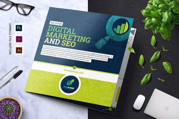 seo digital marketing brochure brochure templates creative market