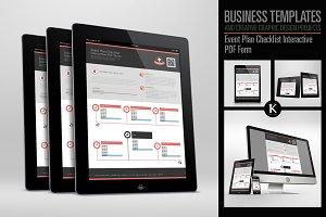 Event Plan Checklist Interactive PDF