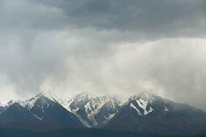 Mountain print, Storm above the peak