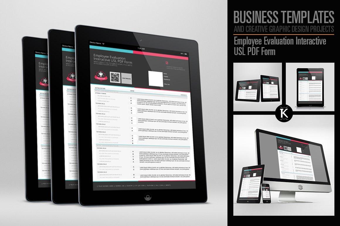 Employee Evaluation Interactive PDF ~ Templates ~ Creative Market