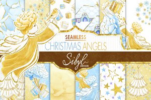 Christmas Angels Digital Paper