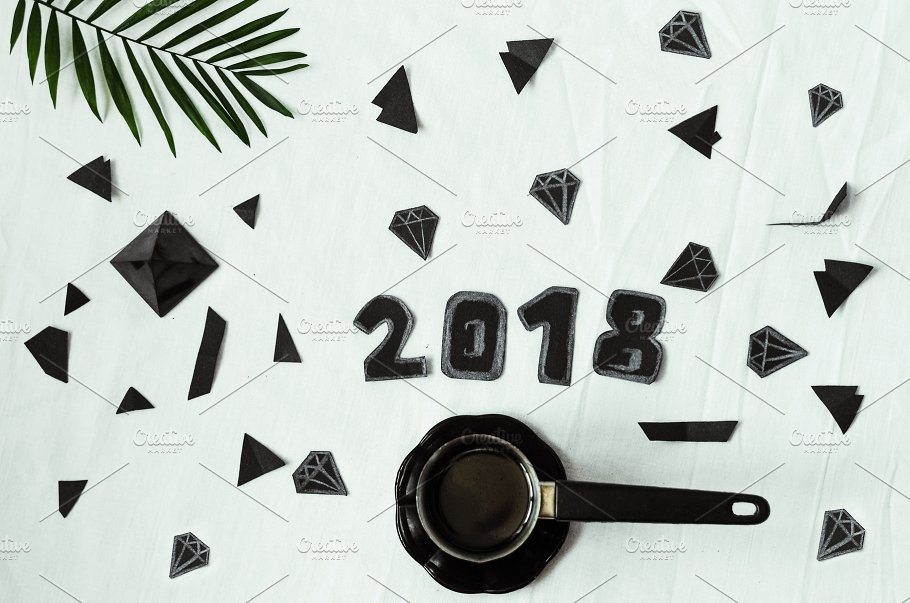 2018 year plans for the new year background