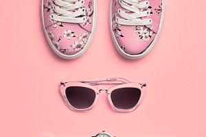 Fashion.Hipster Woman Accessories Se