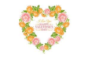 Heart floral frame.