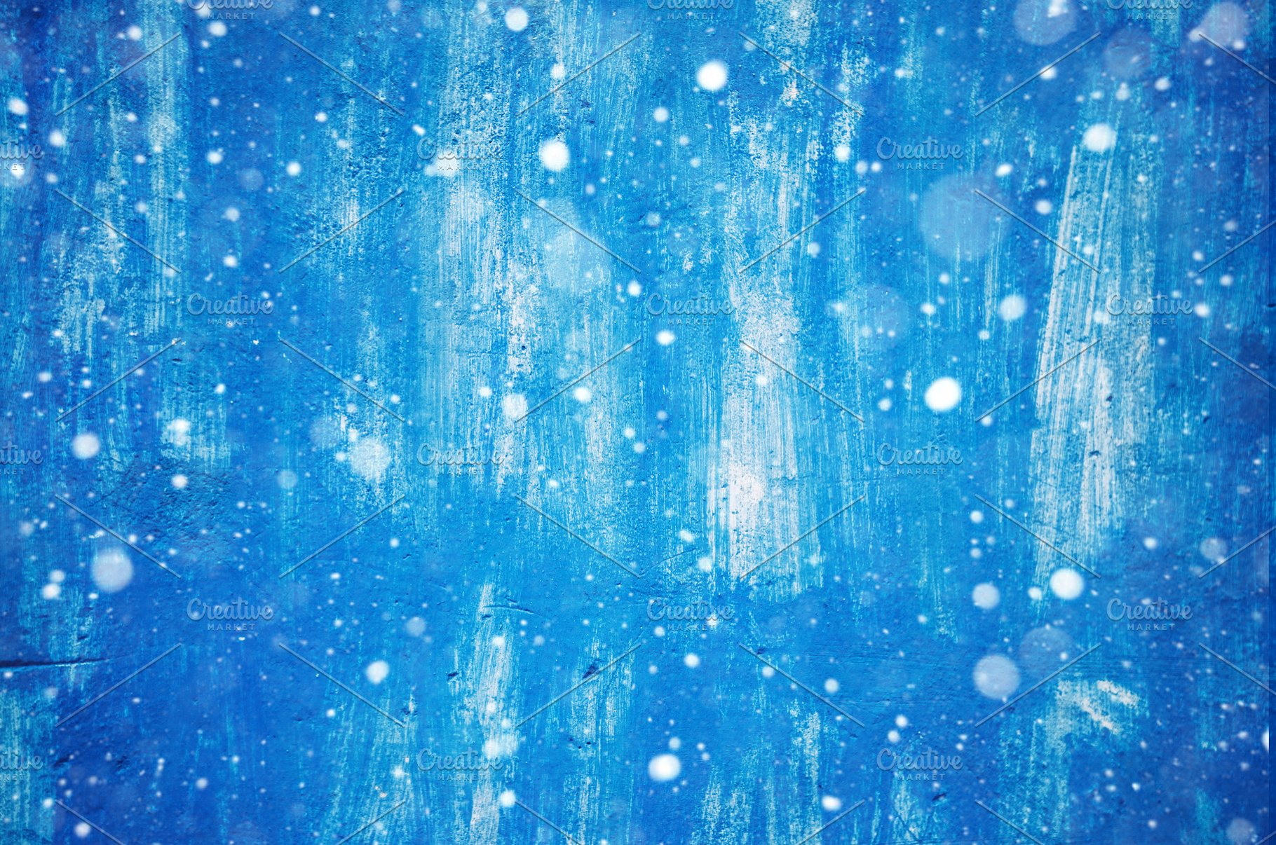 Wall In Paint Background And Texture Wallpaper Snow And Blue Color