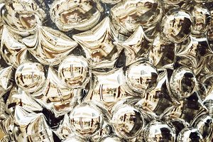 holiday balloons. background and texture. silver color