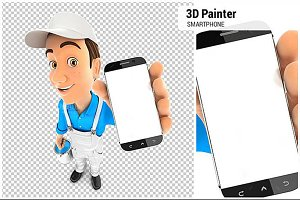 3D Painter Holding Smartphone