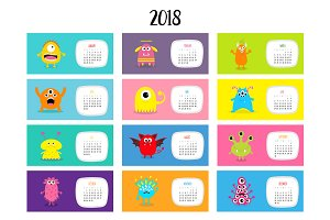 Monster calendar 2018