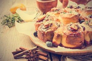 Homemade delicious cinnamon rolls
