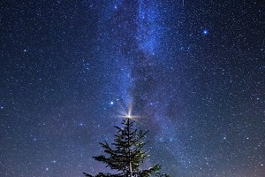 Starry nigth in mountains