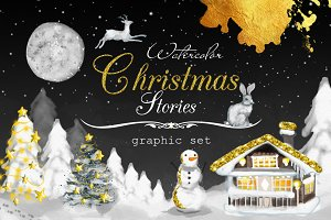 Golden Christmas Graphic Set