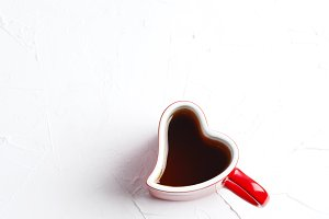 Cup of tea in shape of heart