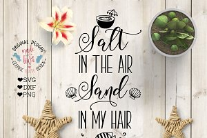 Salt in the Air Salt in the Sand SVG
