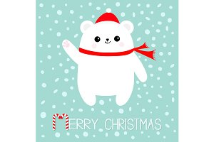Merry Christams Let it snow Bear