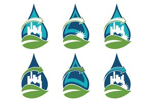 Recycling urban eco icons