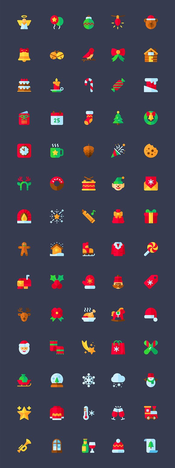 70 Flat Christmas Icons.sketch