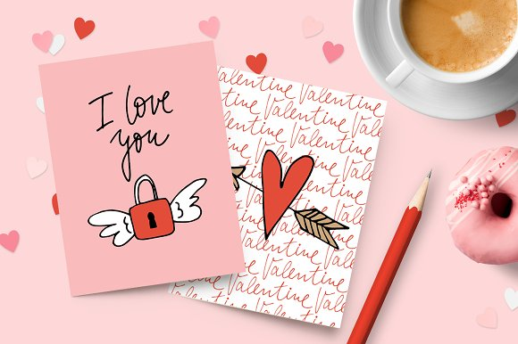 Happy Valentine graphic set in Illustrations - product preview 1