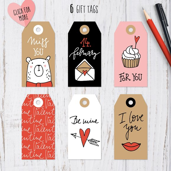 Happy Valentine graphic set in Illustrations - product preview 4